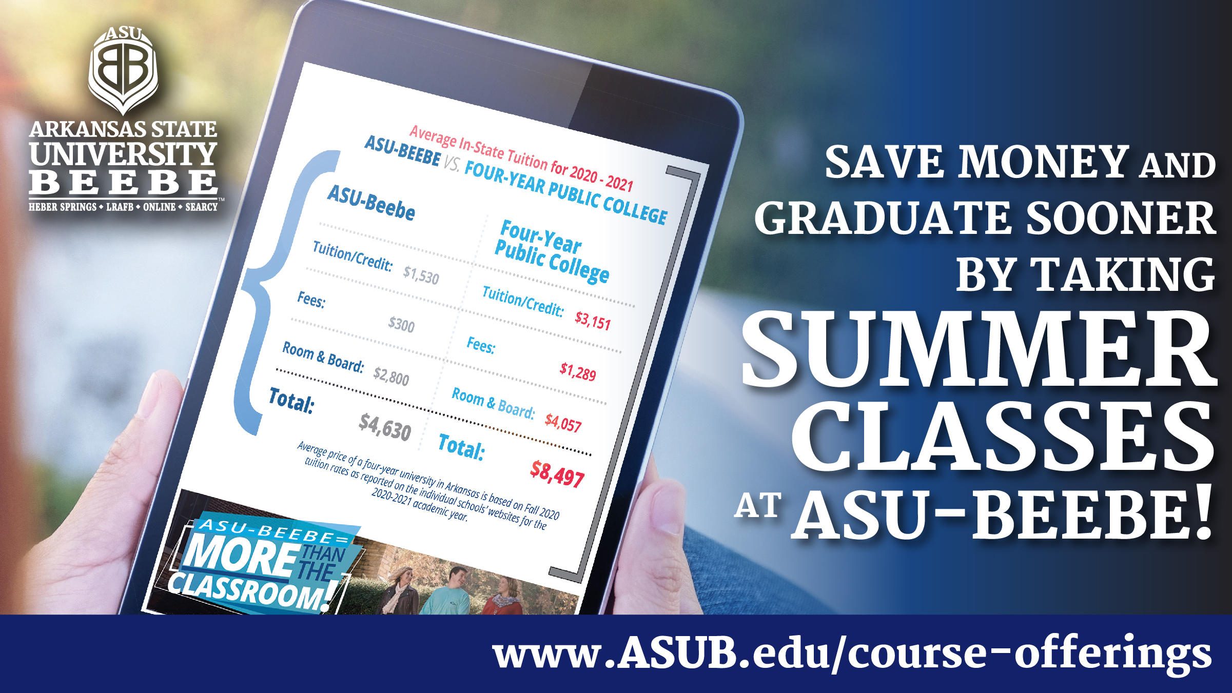 Summer Classes promo with costs