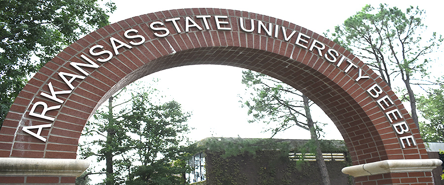 Photo of the ASU-Beebe arch on campus