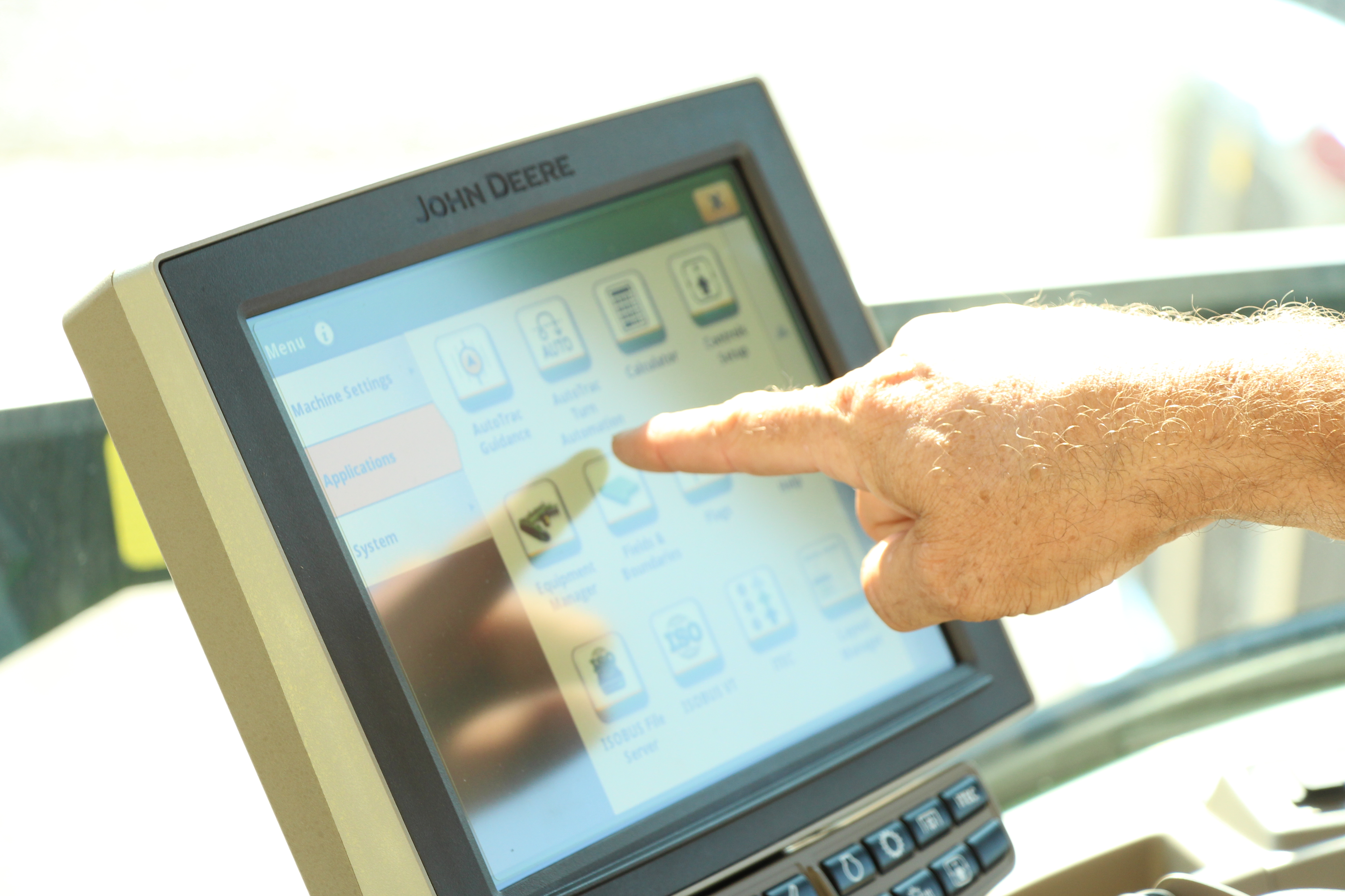 tractor cab computer control system