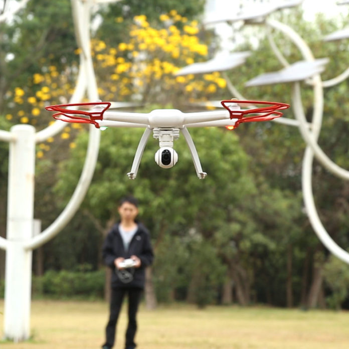 Student Flying drone quad-copter