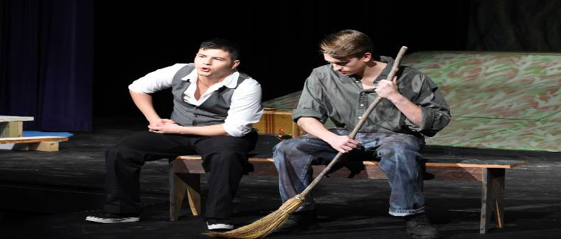 Characters from the Diviners stage production