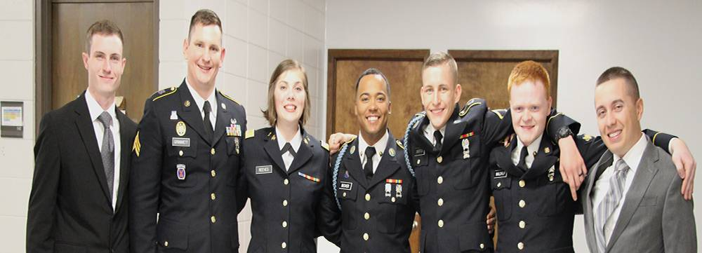 Group photo of ROTC cadets at 2019 Commissioning ceremony